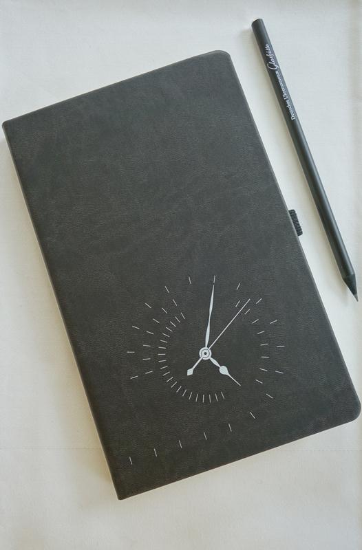Notizbuch Deutsches Uhrenmuseum Glashütte mit Bleistift