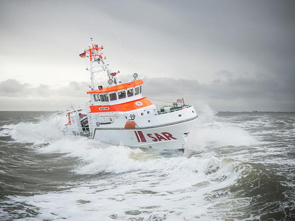 Seenotrettungskreuzer im Einsatz