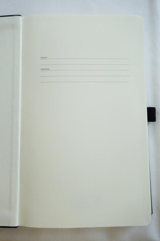 Erste Seite Notizbuch
